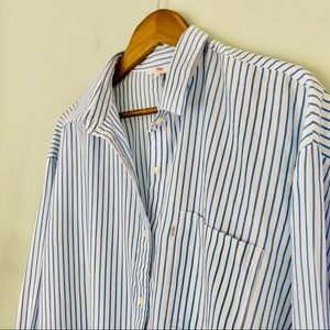 Levi's Striped Relaxed Fit Button Down NWT Size L